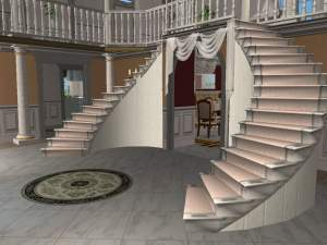 Curved L Shaped Staircases The Sims Forums
