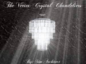 Mod The Sims The Vertex Crystal Chandeliers