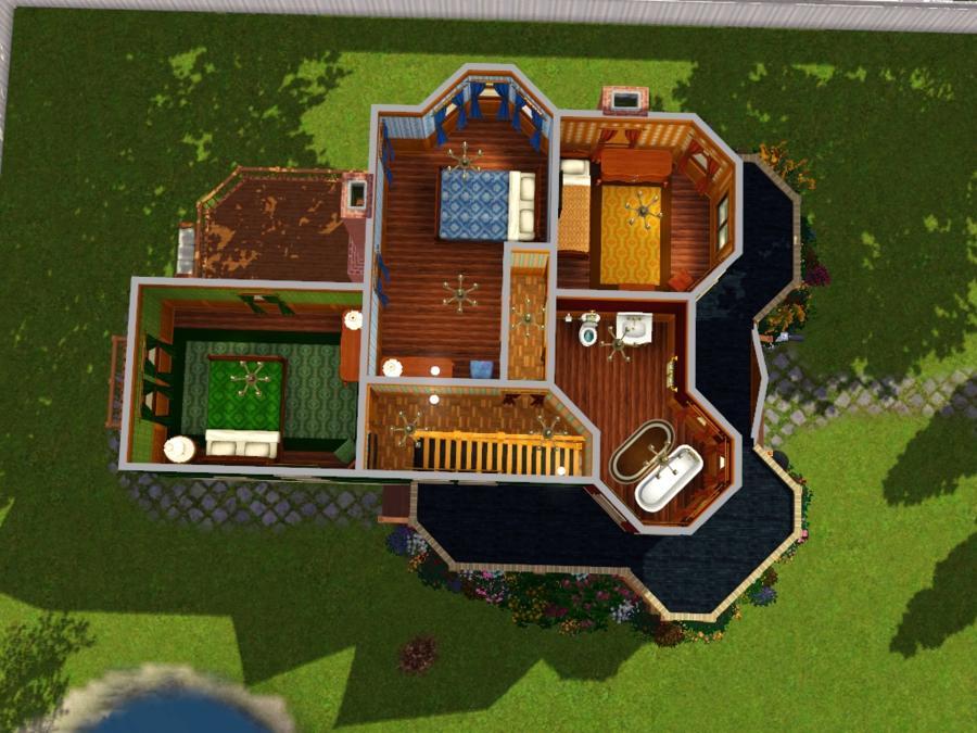 Mod The Sims Laura Hawkins House Ca 1897 Queen Anne Victorian