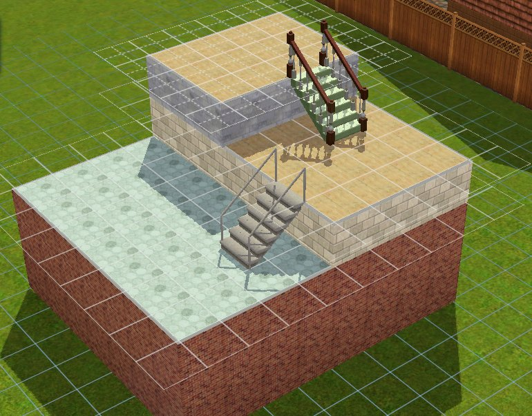 How To Build Stairs Through Foundation Sims