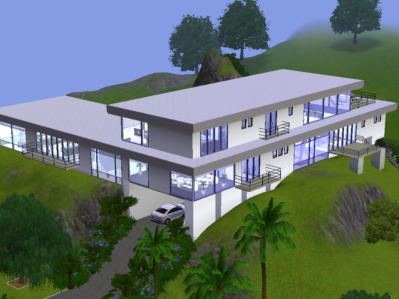 Mod the sims hollywood luxury modern mansion 39 the for Modern mansion