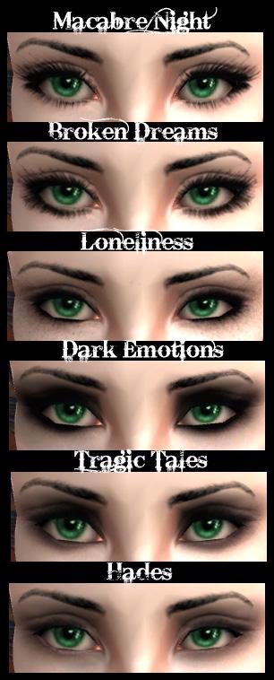 vampire eye makeup. goth makeup kit.