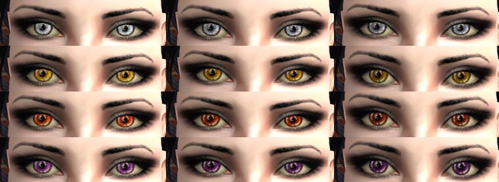 Как себе сделать глаза вампира 348