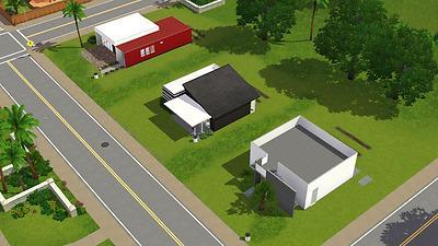 Mod the sims casa moderna 3 modern starter homes 2 for Casa moderna under 35