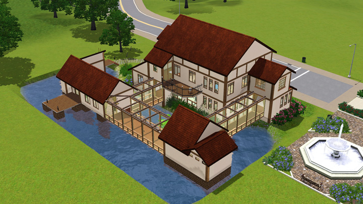 Mod the sims akane house japanese inaka house for Awesome sims