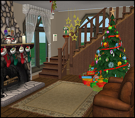 Mod the sims christmas cabin for Revue decoration