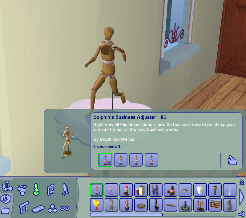 Výsledek obrázku pro the sims 2 podnikatelská soška
