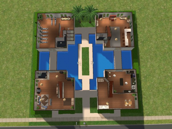 Mod the sims 2 wilson lane for Sims 2 house designs floor plans