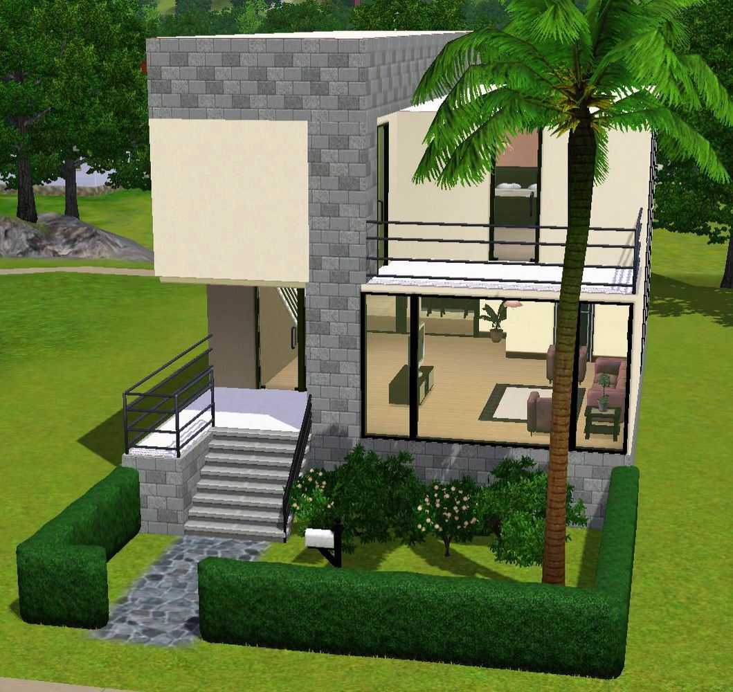 This is one of my first houses in the sims 3 it is a modern house suitable for smaller families