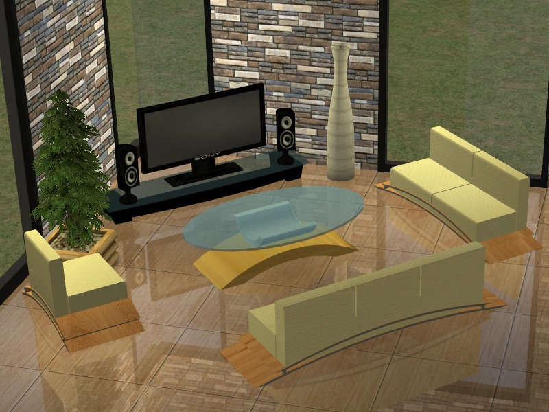 Mod The Sims - Modern Living Room