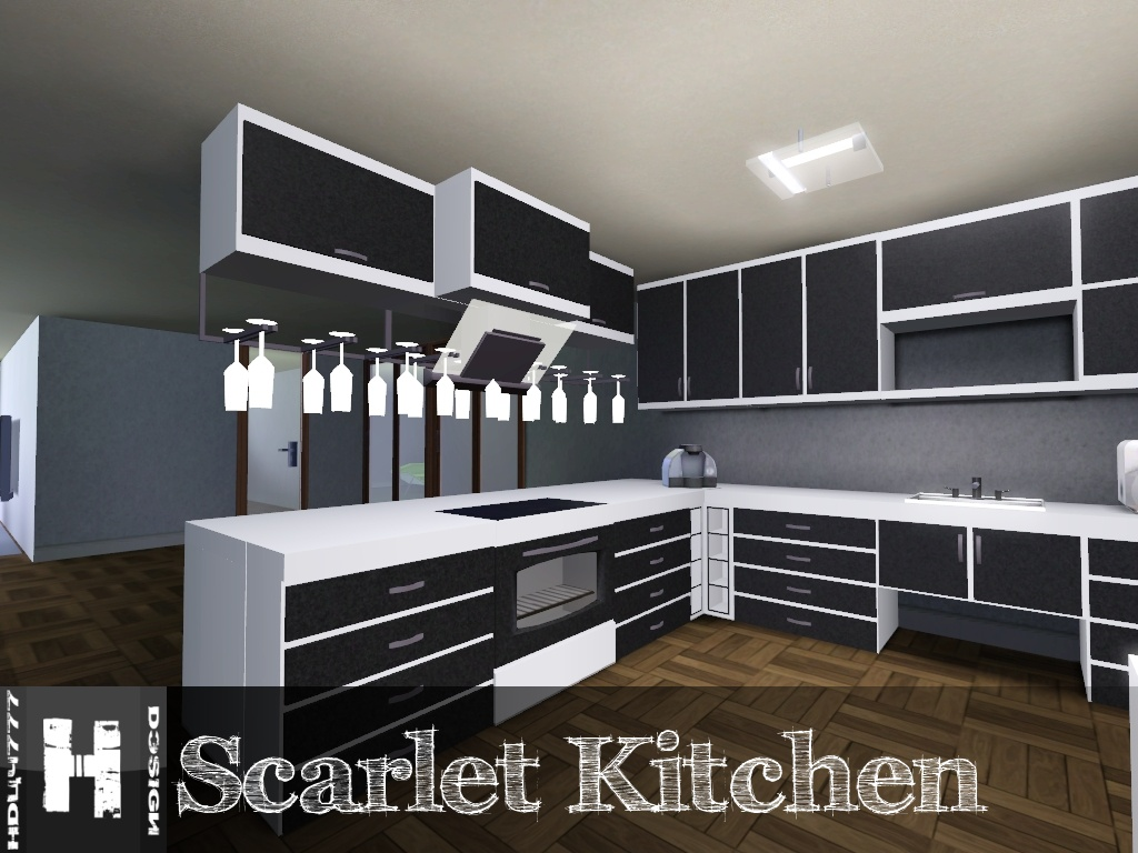 Mod The Sims Scarlet Kitchen 11122011 UPDATED