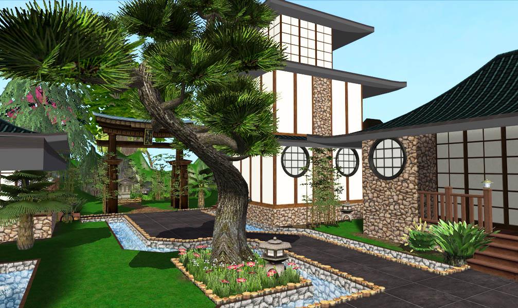 Mod The Sims Mizu Asian House