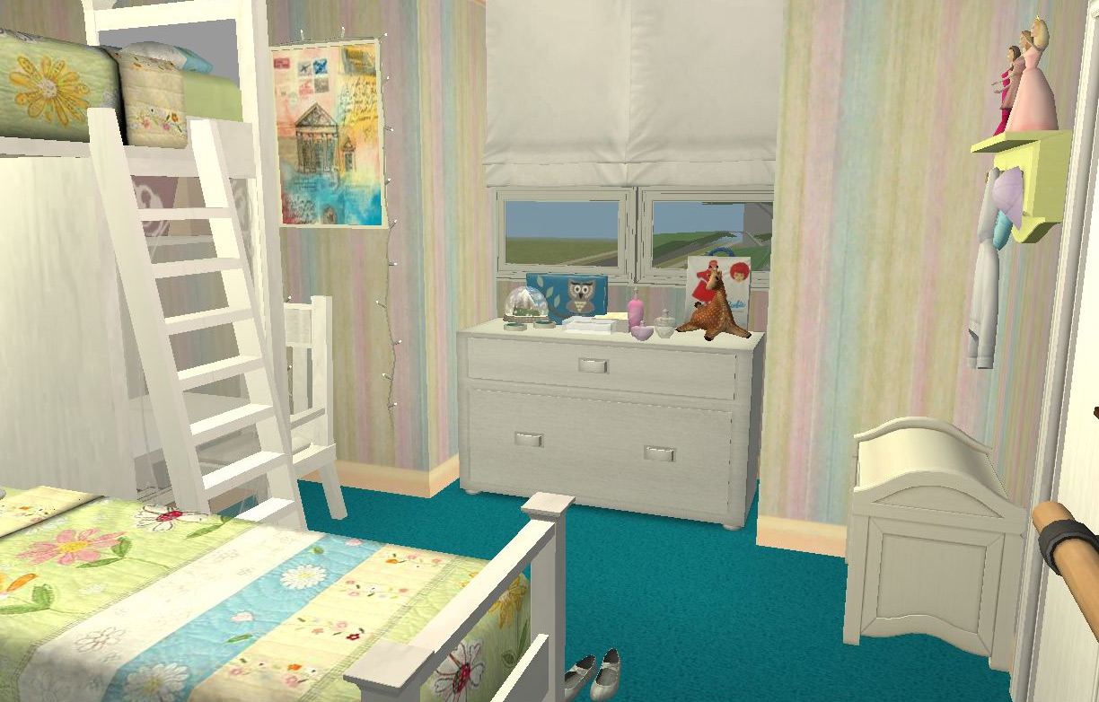 Mod the sims veronaville home makeover contest we are for Bedroom ideas for 3 beds