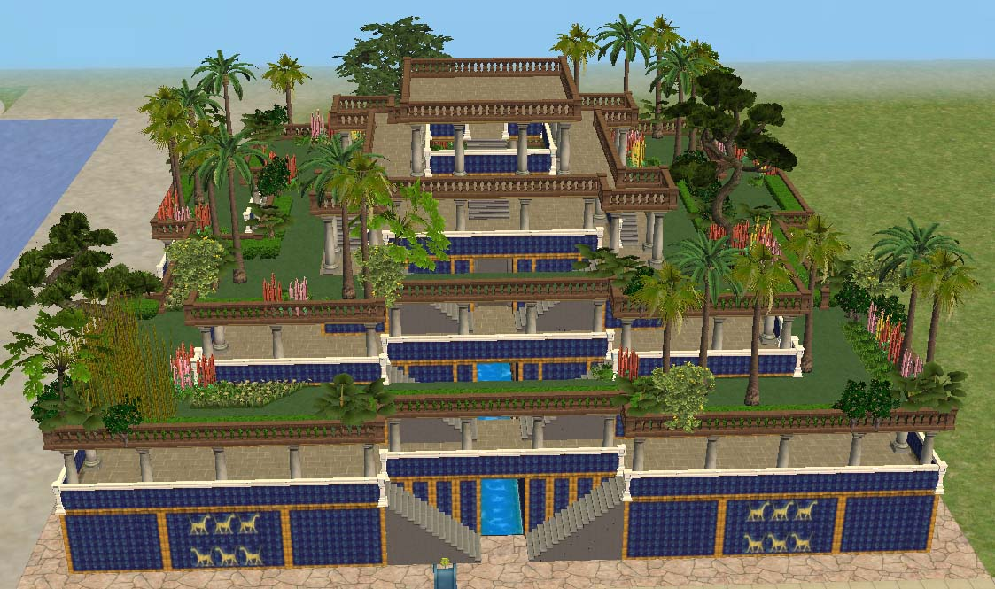 Mod The Sims - Ancient World: Wonders - hanging Gardens of Babylon