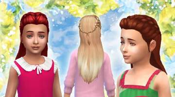 Mod The Sims - Absolution Hair for Girls