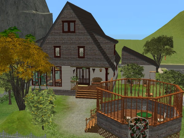Mod the sims suburban dutch house for Dutch house