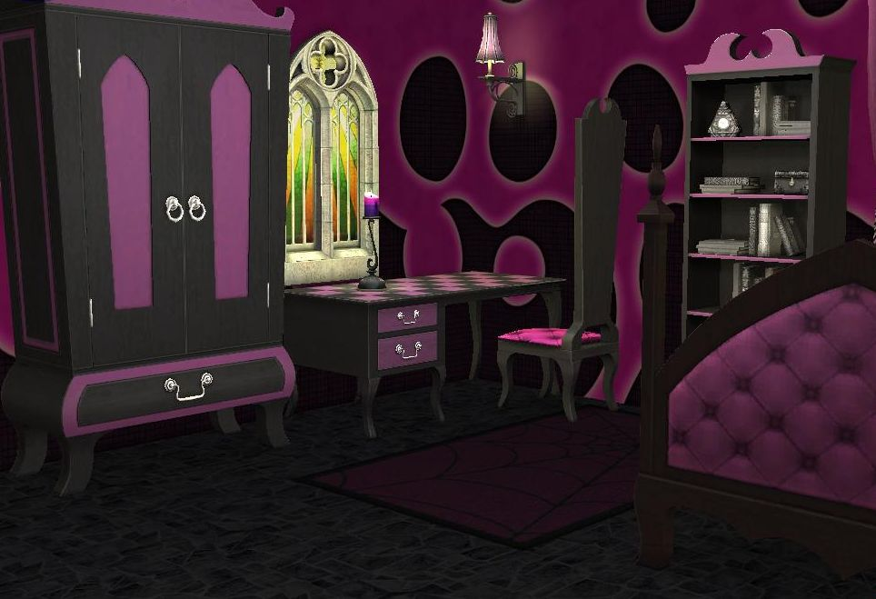 Mod The Sims Pale Pink Teen Style Gothic Set