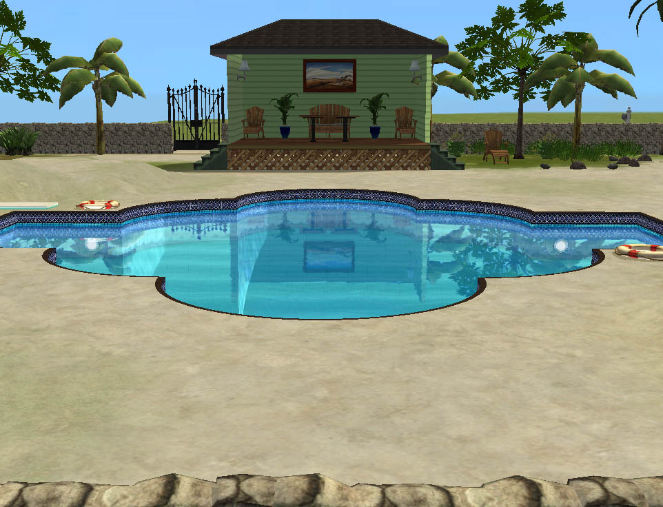 Mod the sims 1 beachy point modern beach front house for Pool design sims 3