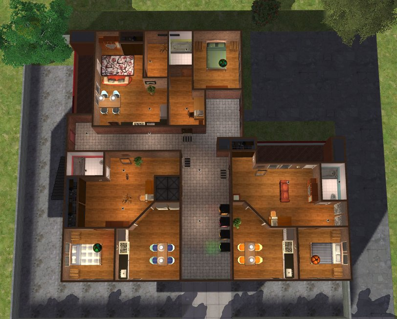 Mod the sims frondosian street 120 apartments for Appartement design sims 3