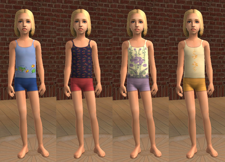 Mod The Sims - Summer Pajamas for Girls