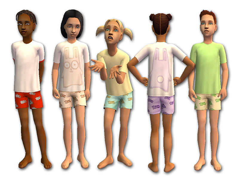 Mod The Sims - Funny Bunny Sleepwear for Kids
