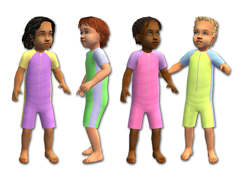 mod the sims   toddlers swimwear collection   fixed mesh