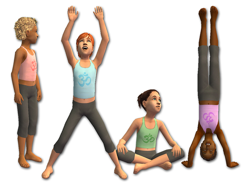 Mod The Sims Young Yogis Amp Yoginis Athletic Wear For Kids