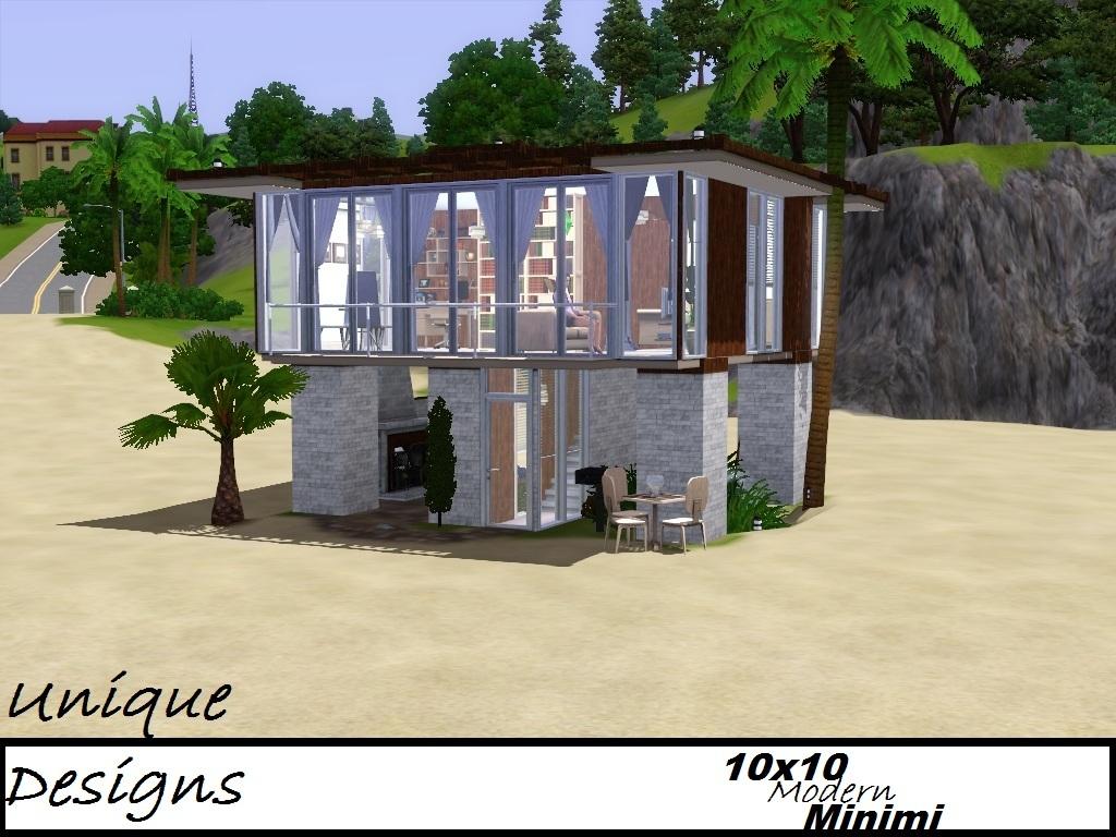 . Mod The Sims   Unique Design II  Modern Minimi  10x10 lot