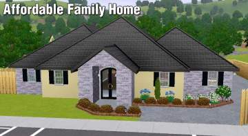 Mod the sims affordable family home for Affordable house plans for large families