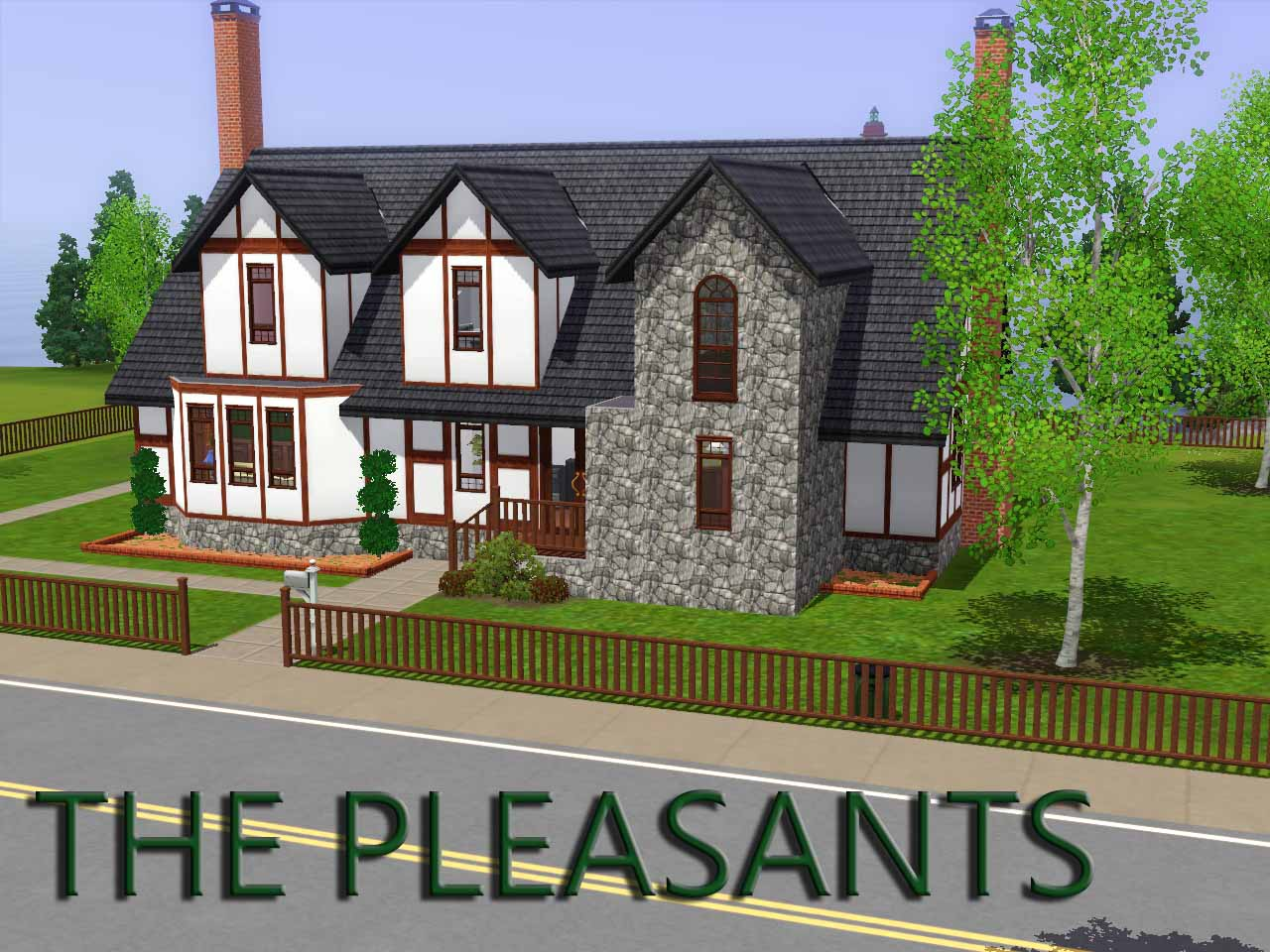 mod the sims ts2 to ts3 215 sim lane the pleasants. Black Bedroom Furniture Sets. Home Design Ideas