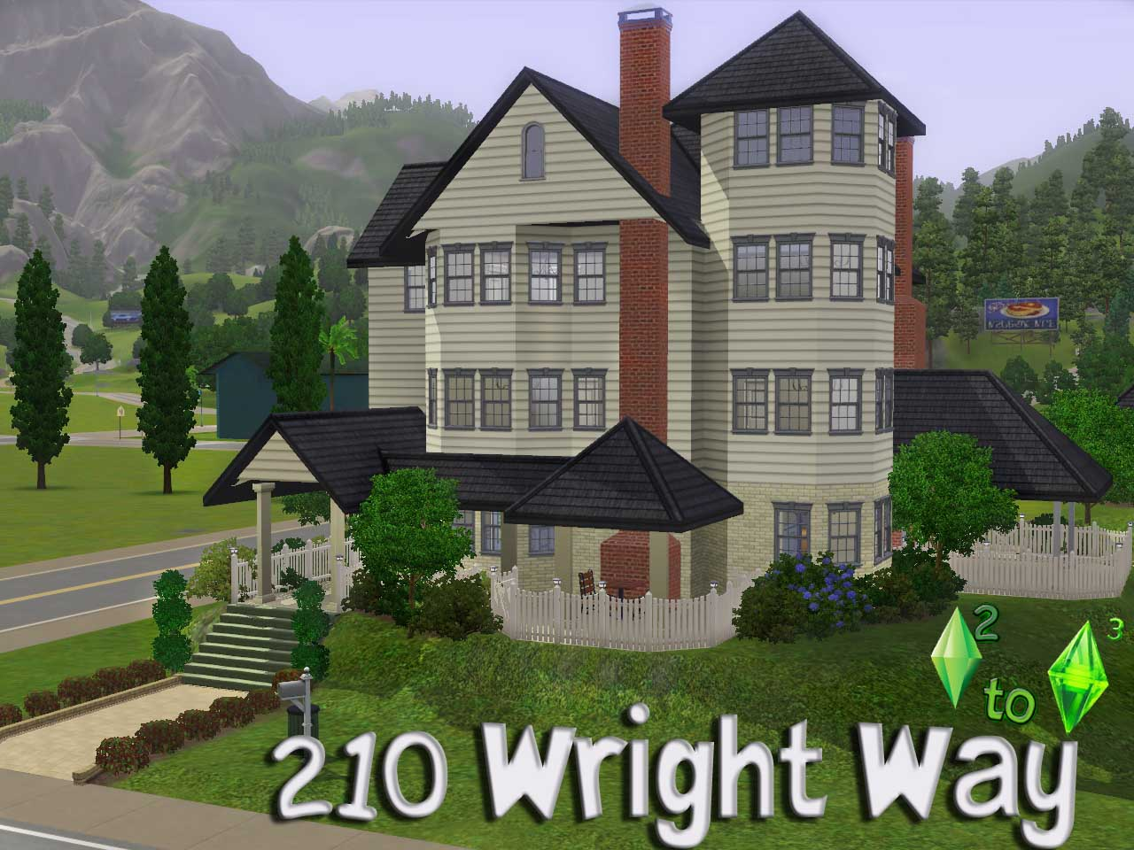 Mod the sims ts2 to ts3 210 wright way for Best house designs sims 3