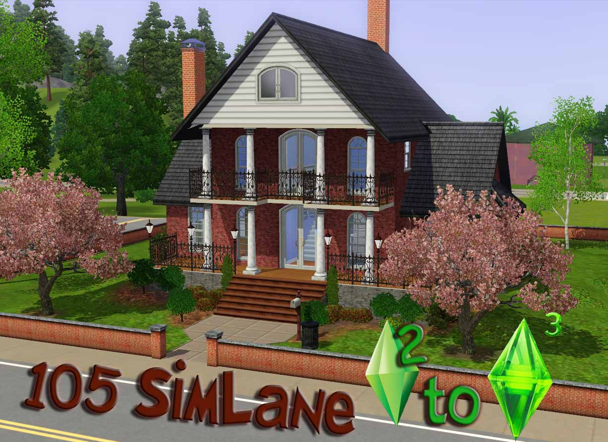 Mod the sims ts2 to ts3 105 simlane for Classic house sims 3