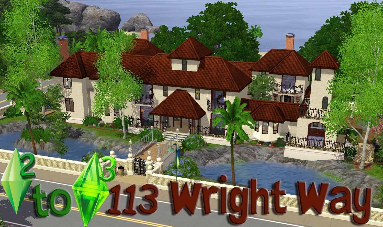 Casas para los sims 3 sin expansiones for Casa moderna sims 3 sin expansiones