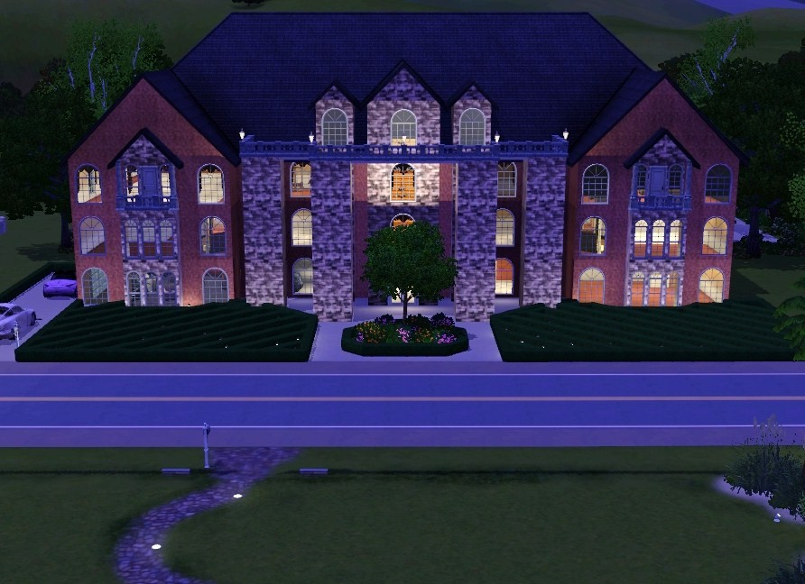 Mod the sims huge beautiful mansion for Big beautiful mansions