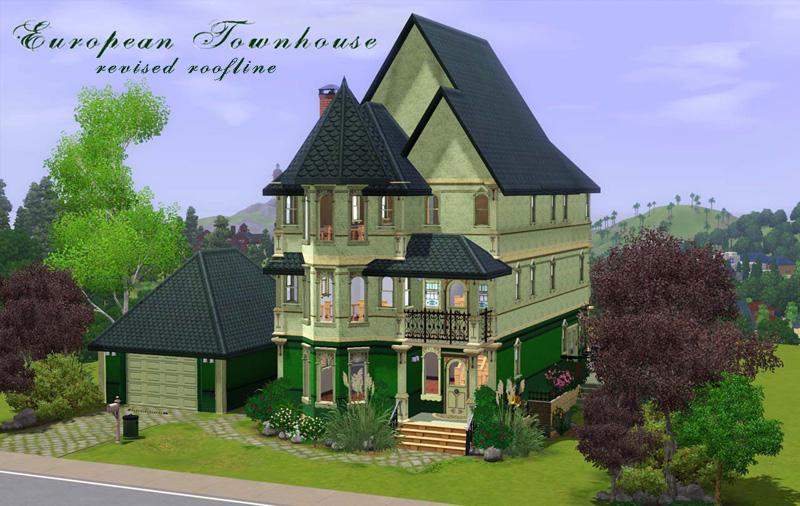 Mod the sims european townhouse for European townhouse