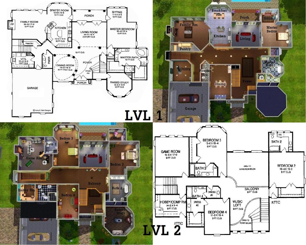 Mod the sims majestic bay for Sims house plans