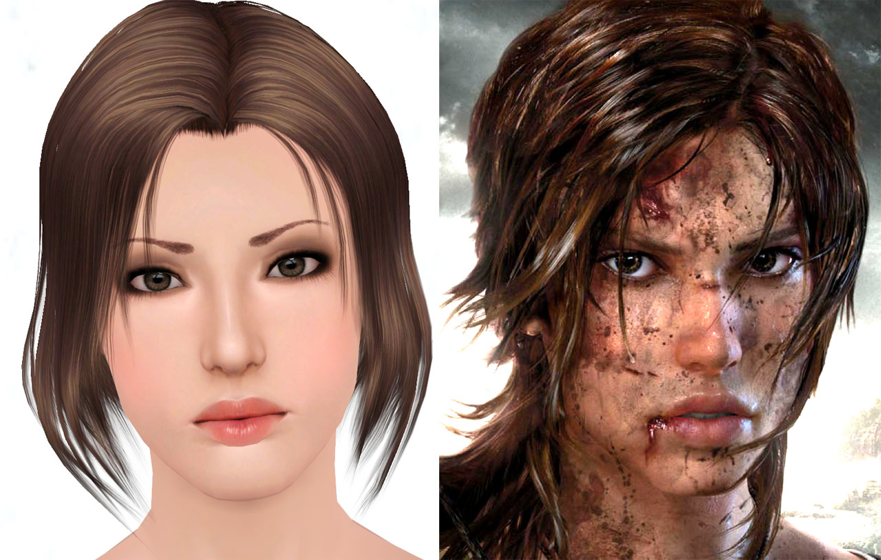 Lara Croft Mod The Sims 4 Hair