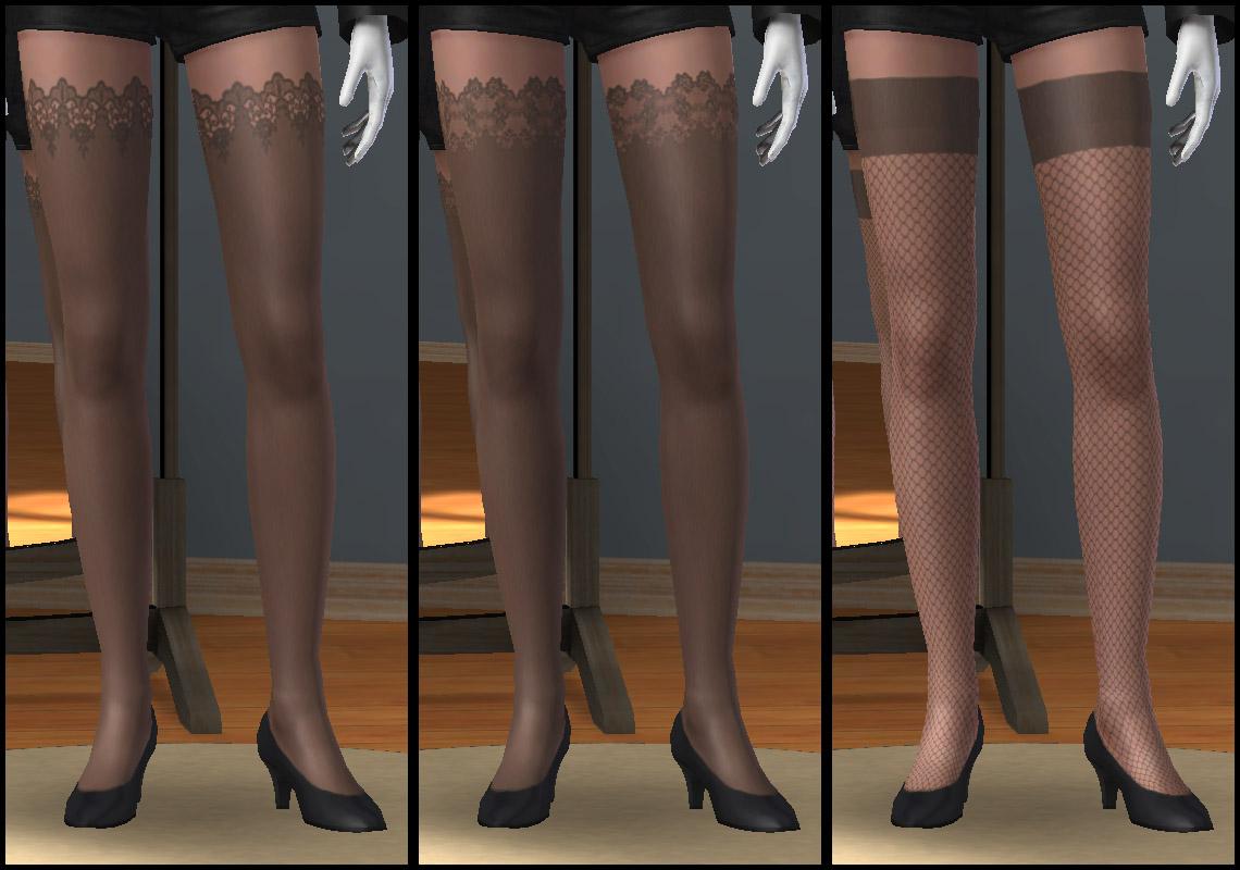 Les 3 types de bas portés par des Simettes