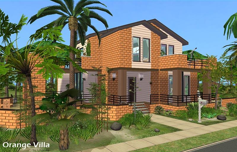 Mod the sims orange villa medium house for a family 2 1 for Medium houses