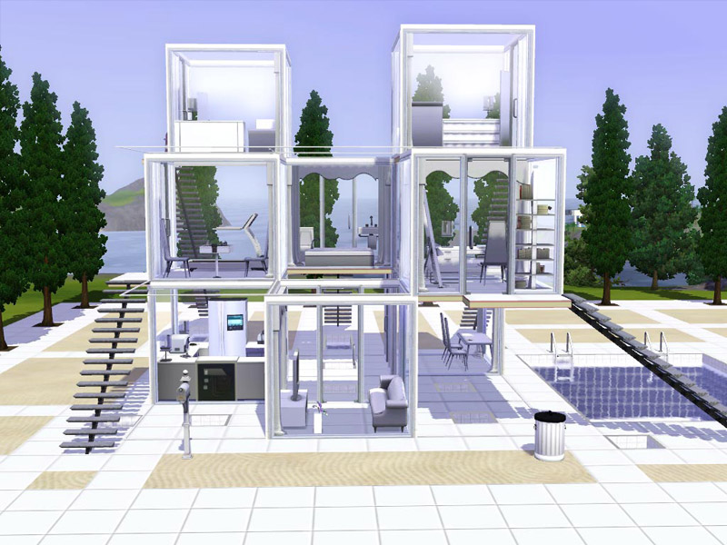 Mod the sims viewity hyper modern beach home for Beach house designs for sims 3