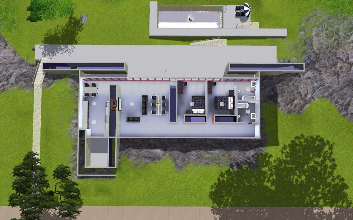 Mod the sims moledo house real architect house for Looking for an architect to design a house