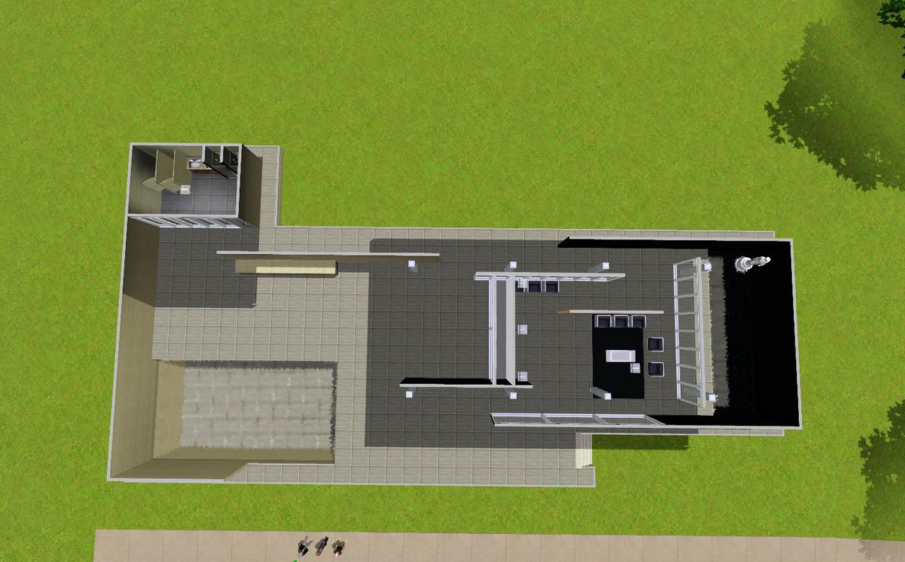 Mod The Sims Mies Van Der Rohe 39 S Barcelona Pavilion