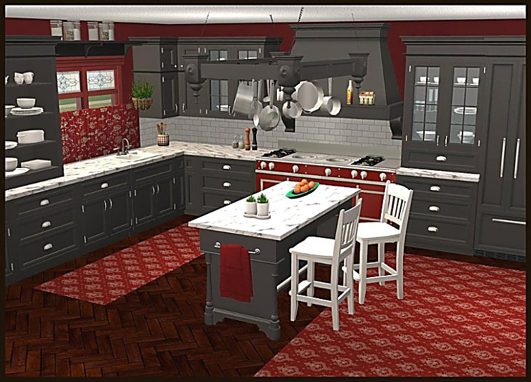 mod the sims - manor house kitchen pt1 in ink black