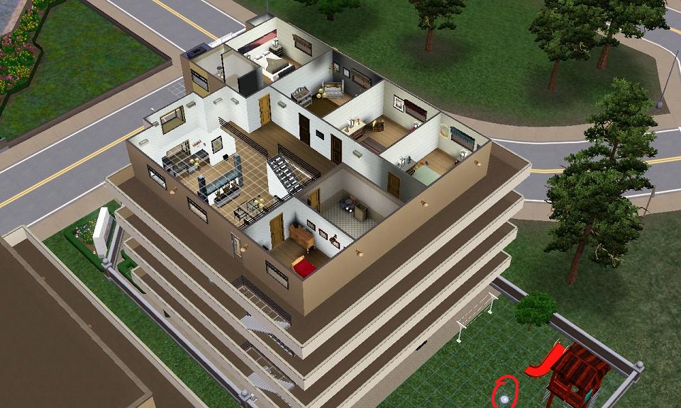 Mod the sims tutorial building custom apartments for Appartement design sims 3