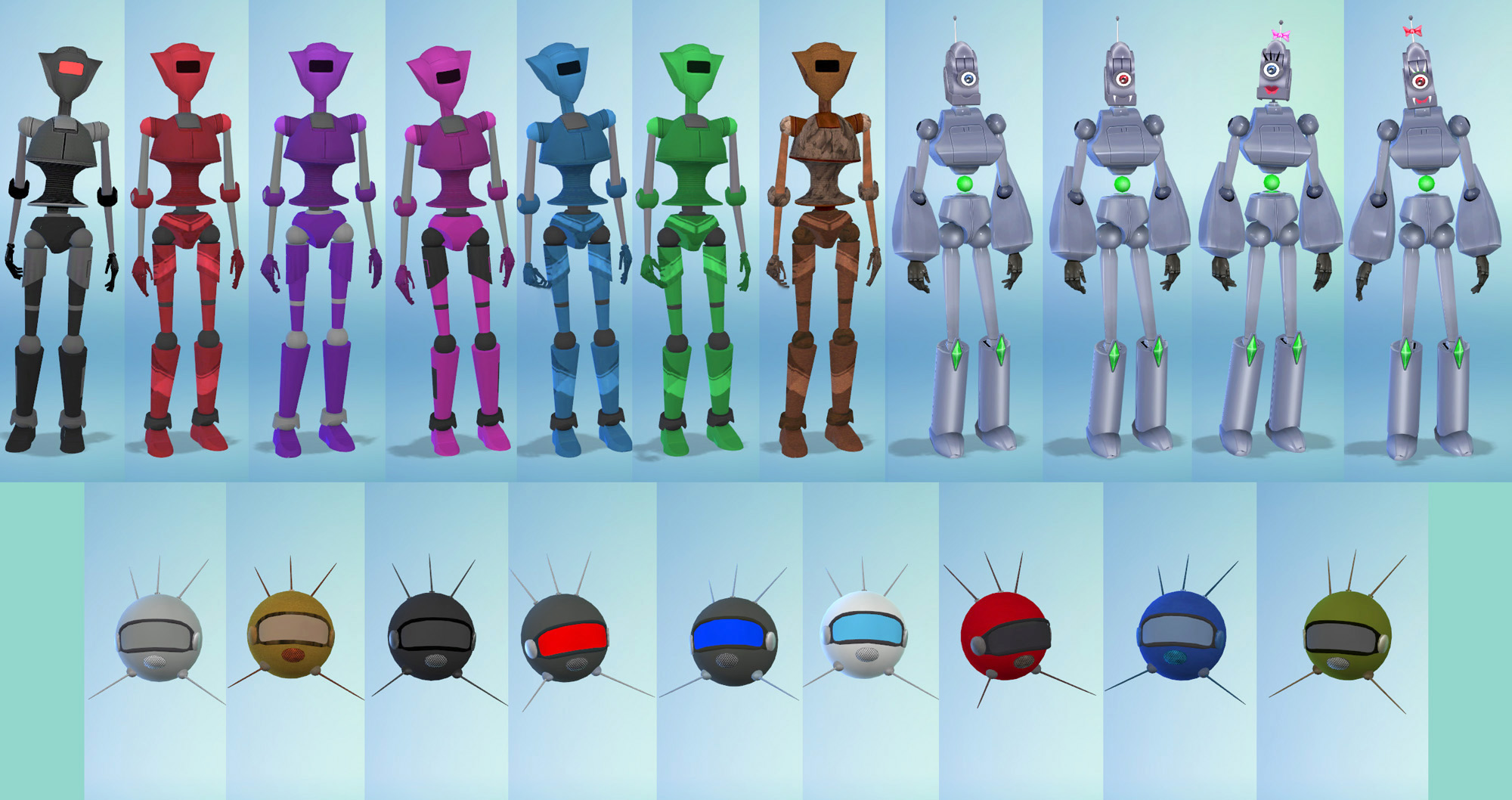 Mod The Sims - Tiny Robots - Kids Robot Costumes