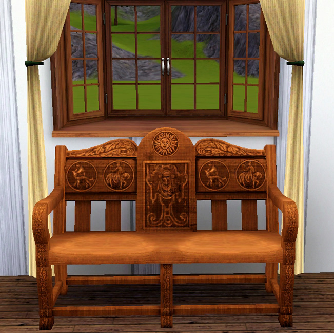 Mod the sims medieval living room set sims 2 conversion for Medieval living room furniture
