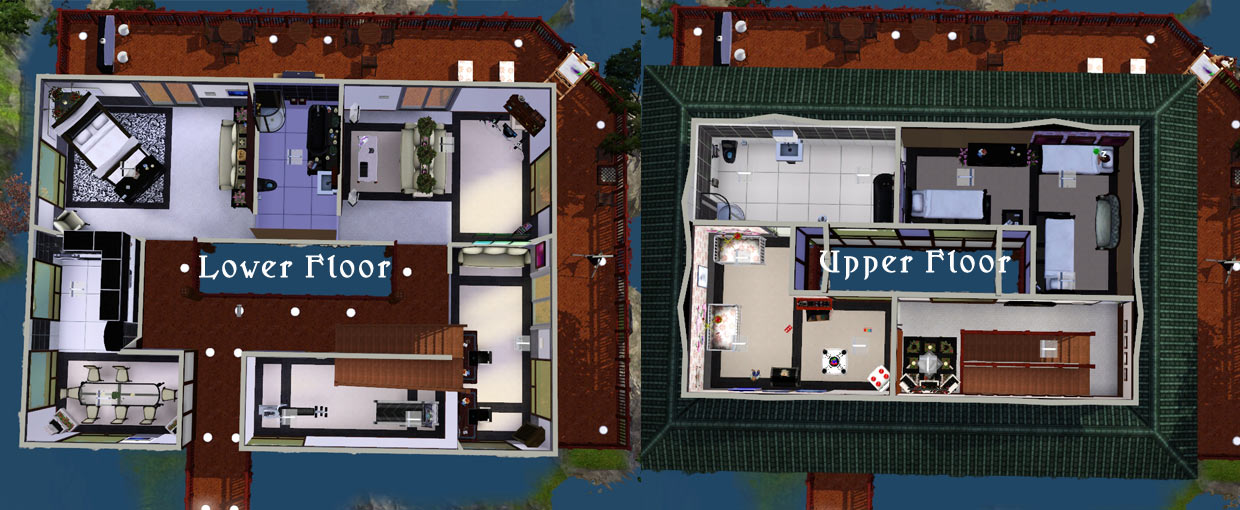 Mod The Sims Japanese Waterfall House