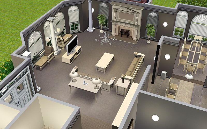 Mod the sims suburban living series house 1 for Living room 4x3