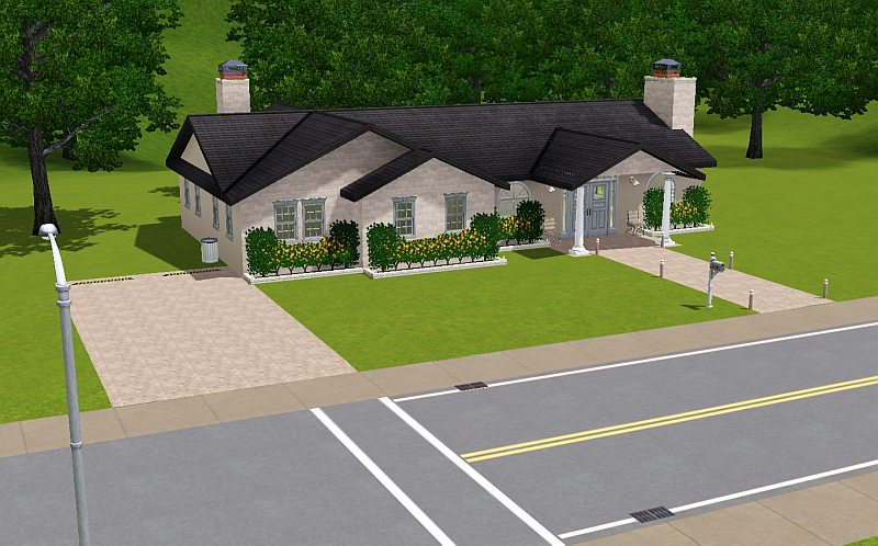 Mod the sims suburban living series house 3 for Sims 3 6 bedroom house