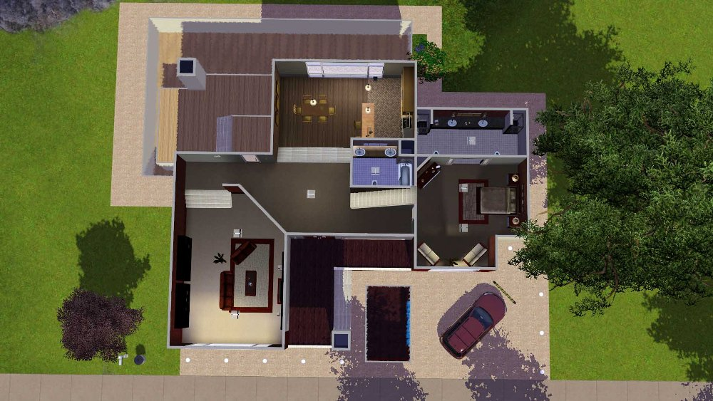 Mod the sims red and white delight by rosalie q for 25x30 house plans